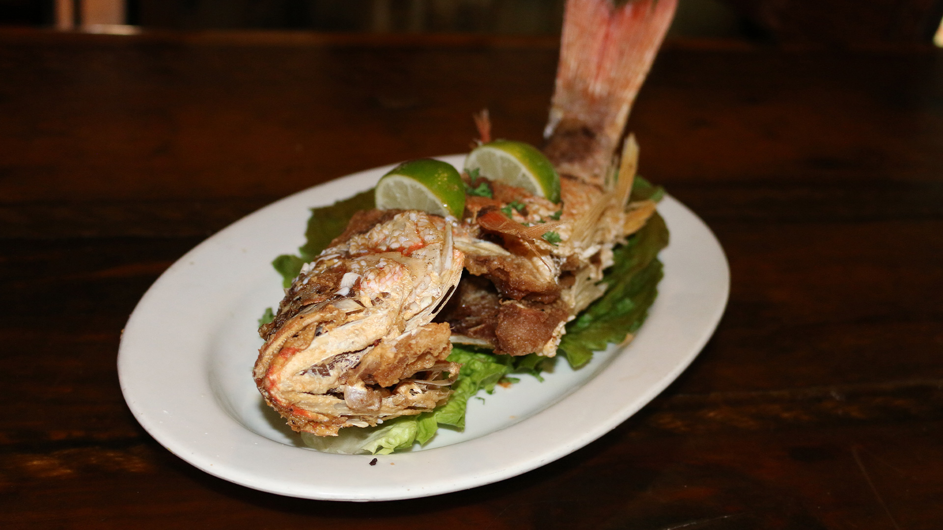 Fried Snapper Cayo Esquivel
